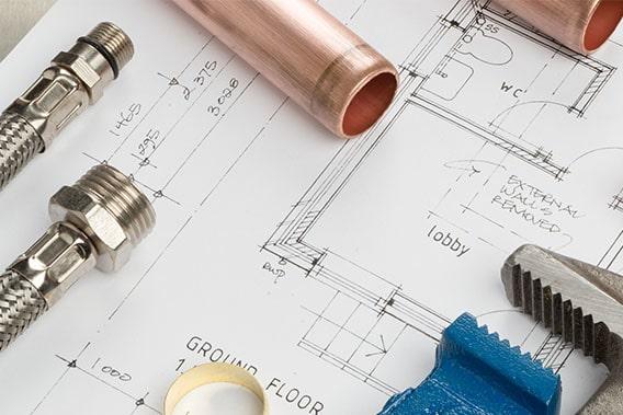 Maquette et matériels de plomberie